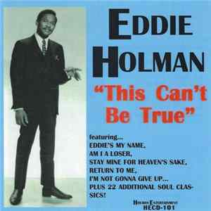 Eddie Holman - This Can't Be True Album
